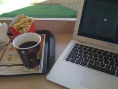 マクドナルドでMac