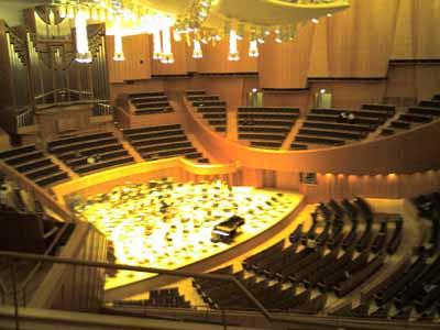 演奏前のキタラ大ホール