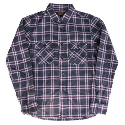 LOST CONTROL (ロストコントロール)|ヘリンボーンチェックワークシャツ