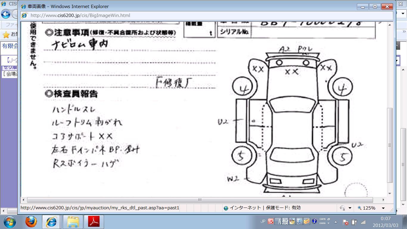 車の状態図プレリュード
