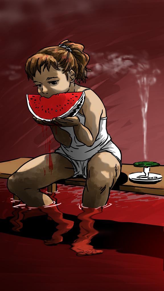 赤い西瓜 (color)