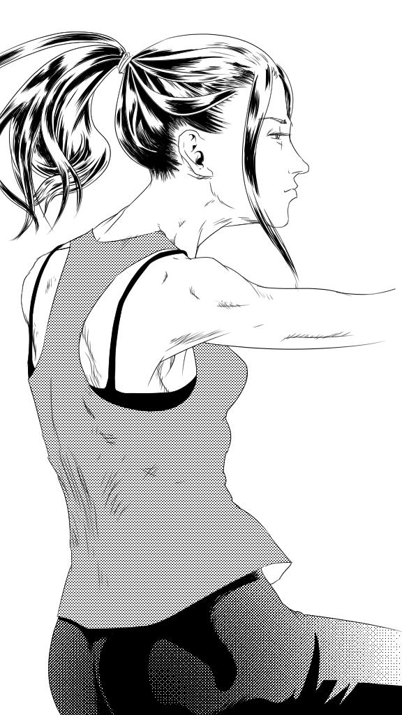 Tai chi (ink)