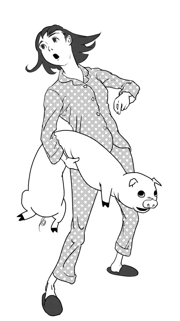Pigggggy (ink)