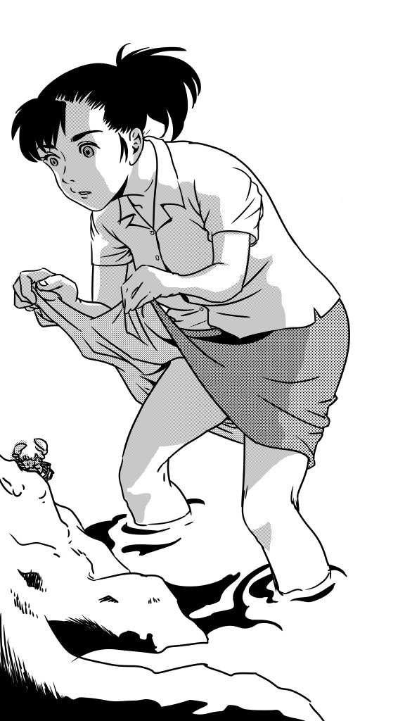 蟹捕り (ink)