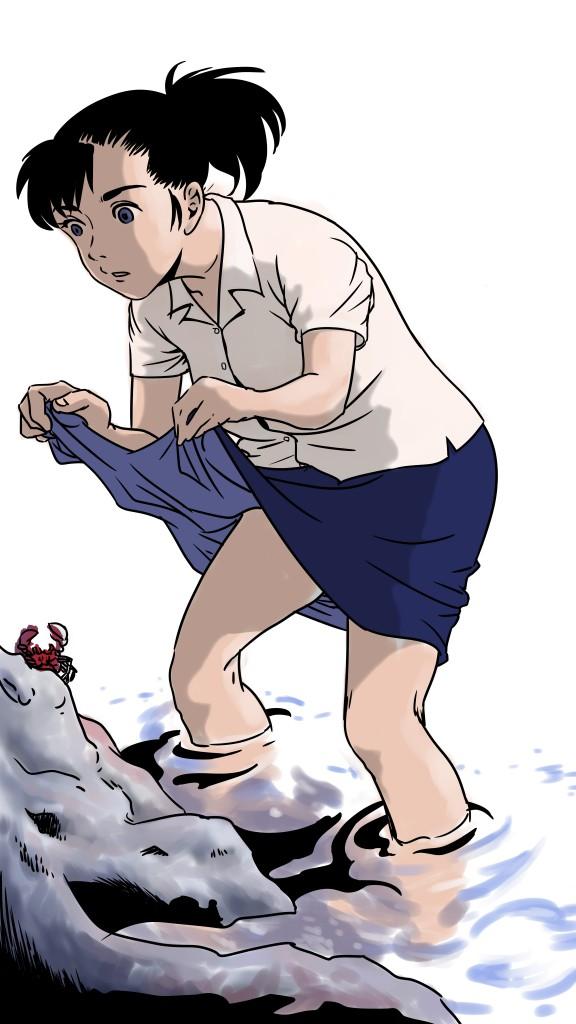 蟹捕り (color)