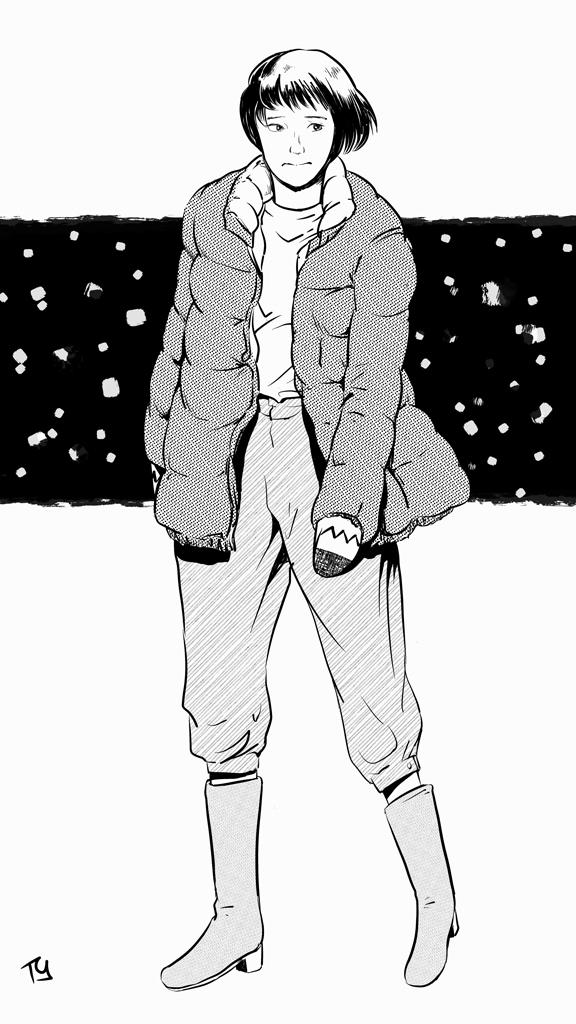 めかりうつ初冬 (ink)