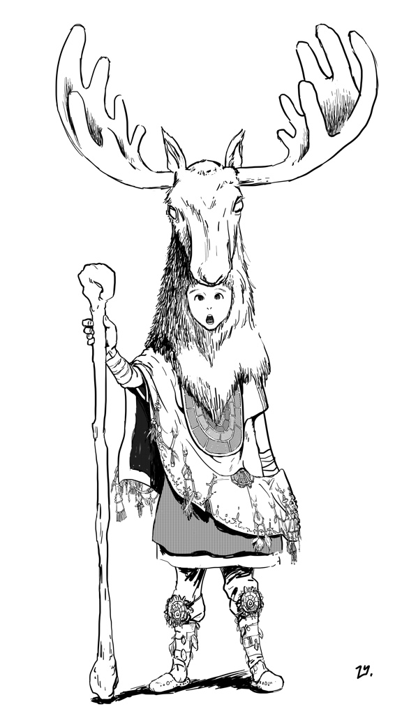Moose King (ink)