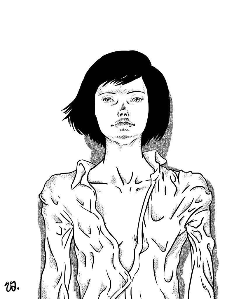 Sandra (ink)