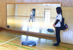 河口湖月山荘の体育館