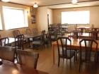 モンブラン白馬アネックスのレストランは落ち着きある雰囲気(お宿支給画像)