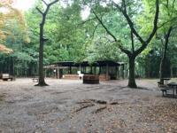 昭和の森フォレストビレッジのBBQエリア