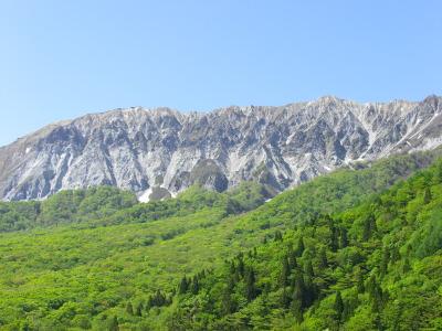 露出する岩肌と新緑、紅葉の調和が美しい!
