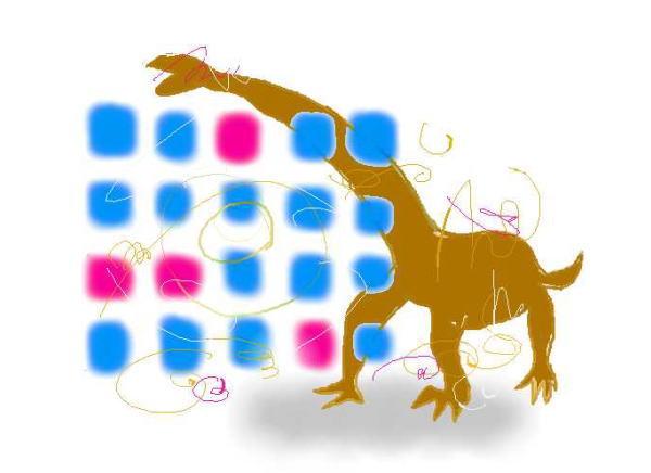newsart 福井にも巨大恐竜、全長20メートル竜脚類の化石発見・インターネット周期表