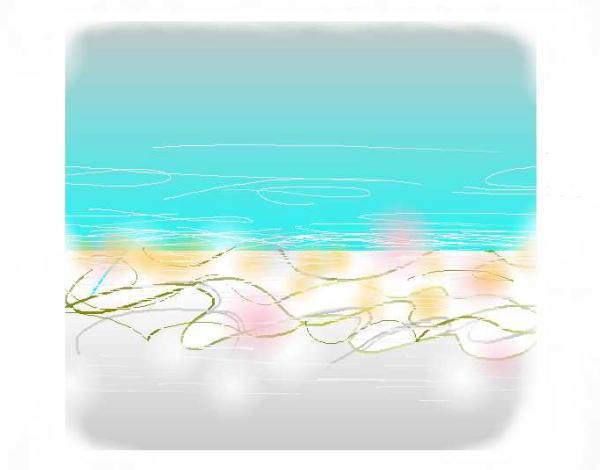 水平線は信じられないくらいにまっすぐ空と陸を分ける・・それを海は教えてくれる