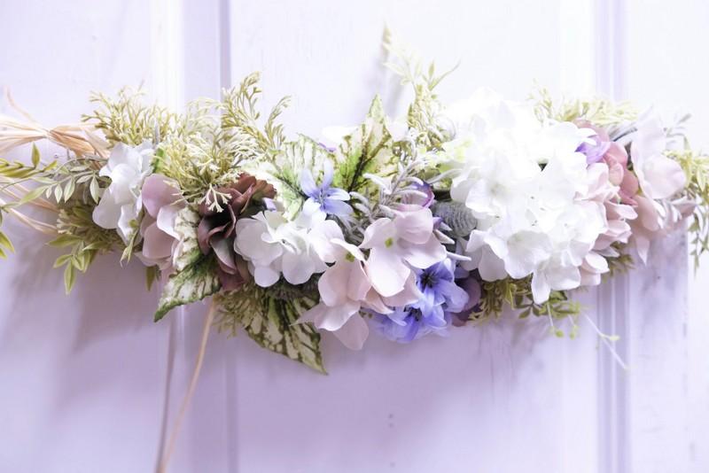 造花のガーランド教室