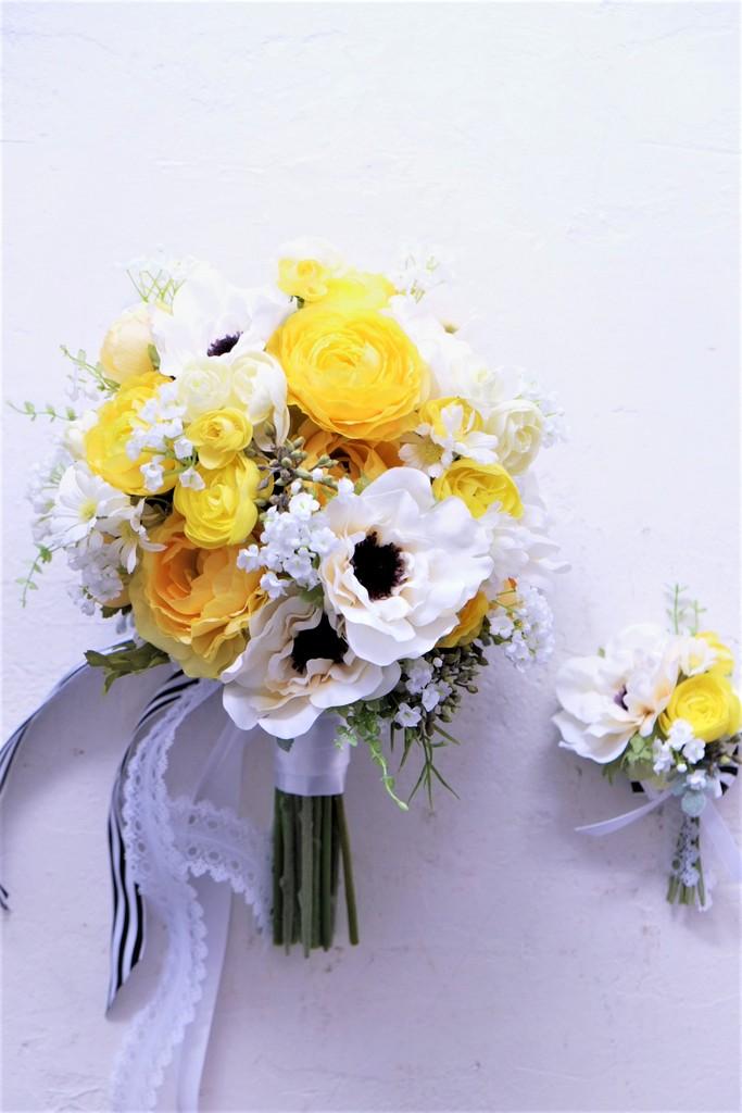 アネモネの造花ブーケ