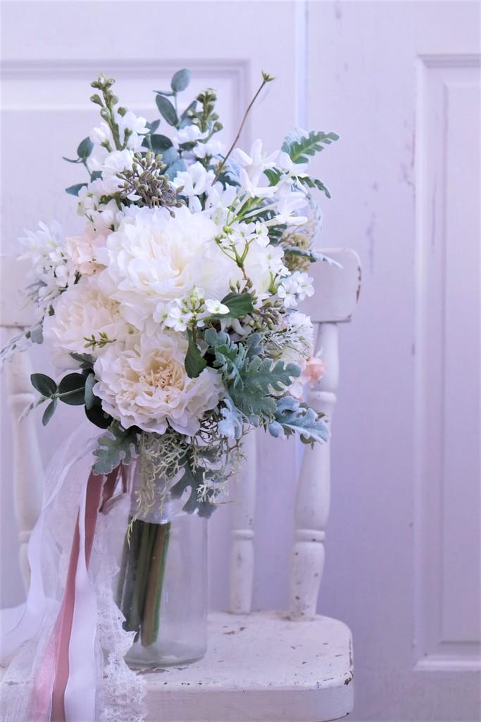 シャクヤク造花のブーケ