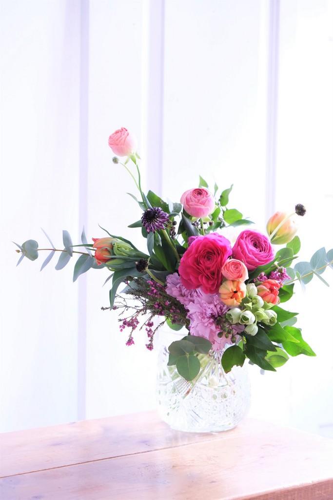 ピンクとオレンジの花束