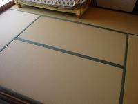 和紙製畳表(たたみおもて)で表替え