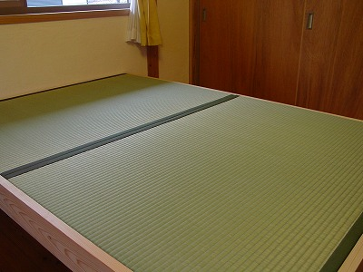 わら畳を使ったオーダー畳ベッド?