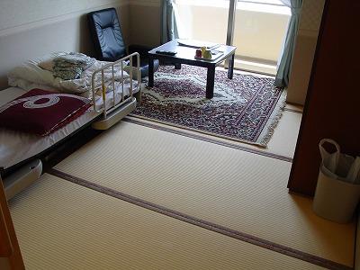介護付き老人ホームの和紙製畳�