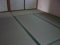 国産無着色無添加基本織り畳表使用のチェック柄縁畳�