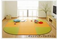 """東レ""""彩美""""置き畳オレンジ&アップルグリーンカラー畳"""