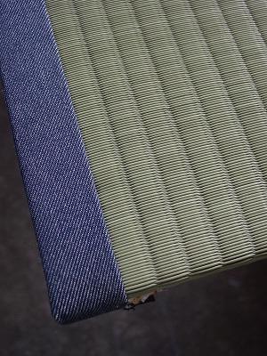 東レ敷楽カラー畳表にデニム畳縁で施工�
