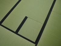 茶室炉付き畳。西藩製棕櫚裏シート仕様の高級わら床新畳施工例