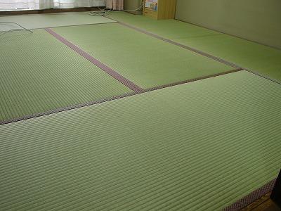 国産(熊本県八代産)無着色無添加基本織り畳表使用の新畳施工例?