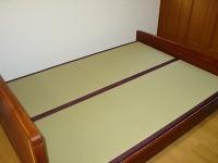 安眠・快適・ベッド用天然わら畳の施工例。�