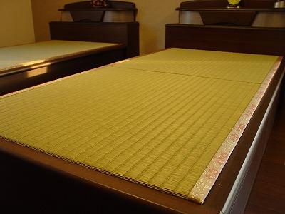 ベッド用オーダーひのき畳が気持ちいぃ施工例?
