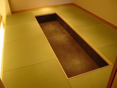 新店舗:極薄畳へりなしりゅうきゅう畳市松敷き施工例�