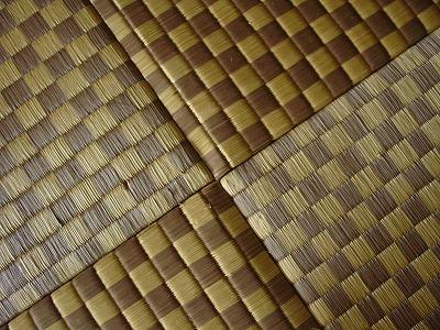 天然い草全面市松柄カラーへりなし畳(りゅうきゅう畳)の施工例?