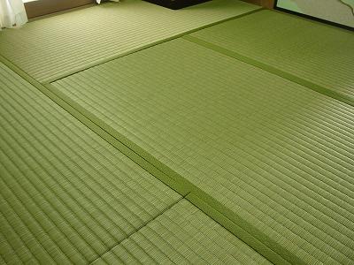 夏畳!艶々極太い草が、足裏に心地いぃ畳の施工例�