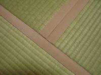 ピンク色の畳縁がステキな畳の施工例�