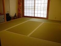 天然ヤシの実繊維と麻の不織布が足に心地いい畳の施工例。�