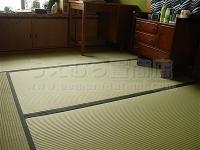 低農薬栽培米のわらと低農薬栽培い草畳表を使用した新畳施工例。�