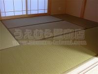ヤシの実繊維&麻の不織布使用のオリジナル天然素材畳の施工例�