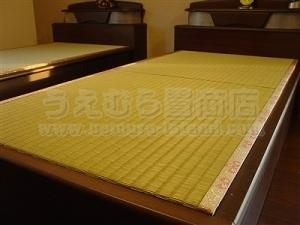 ベッド用オーダーひのき畳床と極太い草畳表が気持ちいぃ施工例。〜大阪大東市のショールームのあるキレイなお店のたたみ屋さん上村畳商店のお仕事〜�