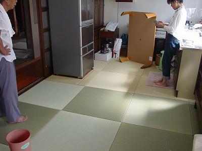 和モダンスタイル台所リビング総畳敷き�