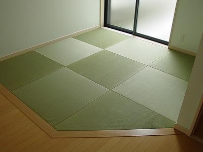 変形4畳半 天然い草琉球畳・縁無し畳?