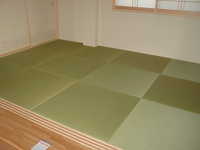 無垢の畳表目積織り縁無し畳?