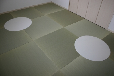 『京美新新(きょうみしんしん)とは?』 円形(丸)、菱型、L型、R型新感覚フリースタイル琉球畳 いまどきの畳屋さんうえむら畳商店?