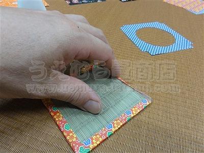 『〜い草畳コースターの作り方中級編:涼感畳小物で涼しく暮らす・・・。〜』畳小物販売&畳ショールーム・モダン乱敷き畳・京美新新・きなり畳のうえむら畳商店?