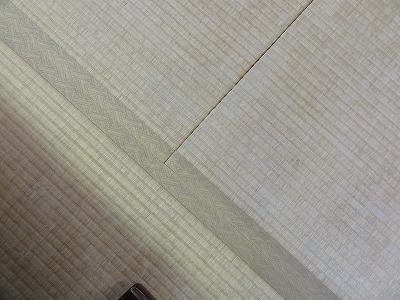 『暖色系カラー花柄縁付き畳が出演前のココロを癒します。』(縁付き畳施工例)大阪府大東市の国産畳専門店の畳屋さん5