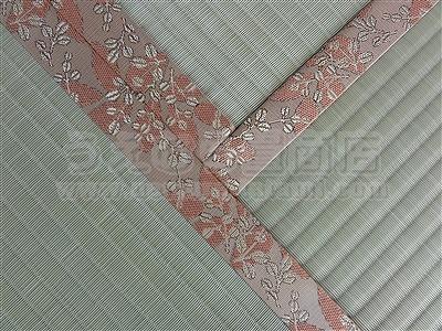 ワンちゃん安心耐水畳×ピンク花柄畳縁:縁付き新畳施工例。大阪府大東市ショールームのある畳屋さん4