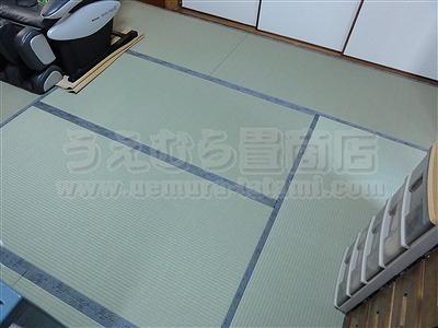 ペットの臭いや汚れにも拭き取れる新素材畳へり付き畳施工例。(四条畷市)ペット用畳うえむら畳2