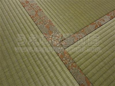 ももいろ萩柄畳縁×無添加天然い草畳表=きなり畳。へり付き畳施工例(大東市)きなり畳のうえむらたたみ5
