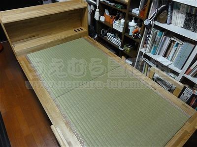 世界に一つ!自分に合わせたオーダーメイド畳ベッド施工例。日本産無添加きなり畳のうえむら畳1